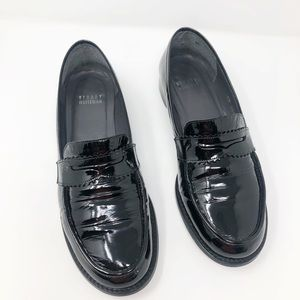 Stuart Weitzman Black Patent Loafers 8.5 Wide